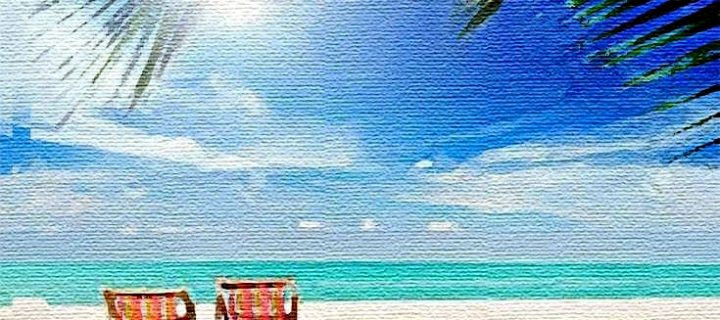 beach scene-paint-canvas